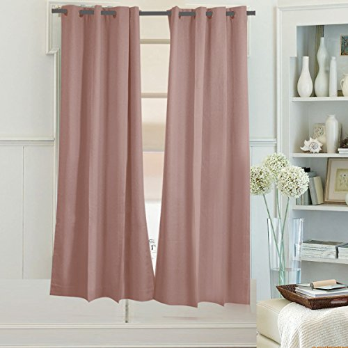 Lotus Water Treatment System - Beryhome's Luna 100% Blackout Grommets Window Curtains/Panels with Wool-like Soft Finish, Set of 2 Panels, Width 52''x Length 45'' Inches, Color: Lotus Color. (52Wx45L, Lotus Color)