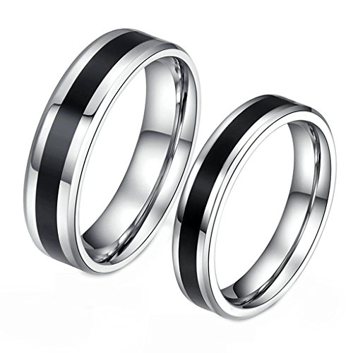 Men Classic Silver and Black Wedding Bands Accessories Engagement Ring Size - Day What Free Does 2 Shipping Mean