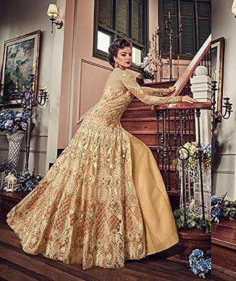 ziya Readymade Ethnic wear Indian Pakistani Long Gown Type Salwar Kameez for Women 5801