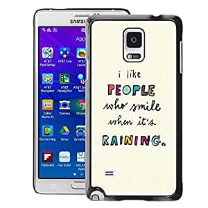 Planetar® ( People Quote Motivational Text ) Samsung Galaxy Note 4 IV / SM-N910 Fundas Cover Cubre Hard Case Cover