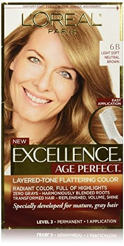 Lor Exc Lt Soft Neut Brn Size 1ea Loreal Excellence Age Perfect Light Soft Neutral Brown 6b