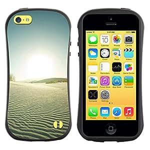 "Hypernova Slim Fit Dual Barniz Protector Caso Case Funda Para Apple iPhone 5C [Naturaleza Hermosa Forrest Verde 34""]"