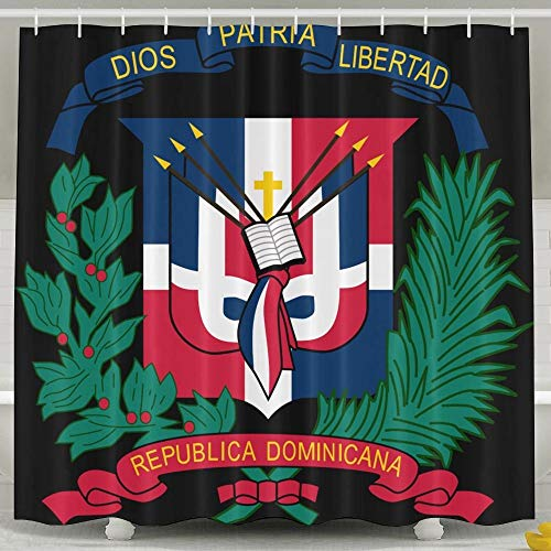- TPXYJOF Coat of Arms Dominican Republic Flag 6072 Inch Bathroom Shower Curtain Set Waterproof Bath Curtain Fabric Polyester for Bathroom Decoration,White,6072inch