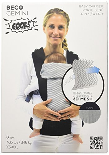Beco Gemini Baby Carrier - Cool Mesh Navy, Sleek and Simple 5-in-1 All Position Backpack Style Sling for Holding Babies,...