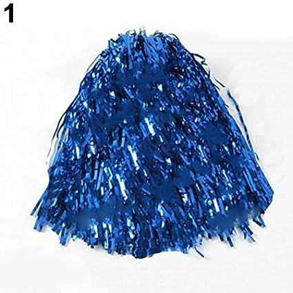 Geshig-1 Stü ck Metallic Cheerleader Cheerleader Cheerleader Cheerleading Dance Party Team Match Sport Pom Poms blau geshiglobal