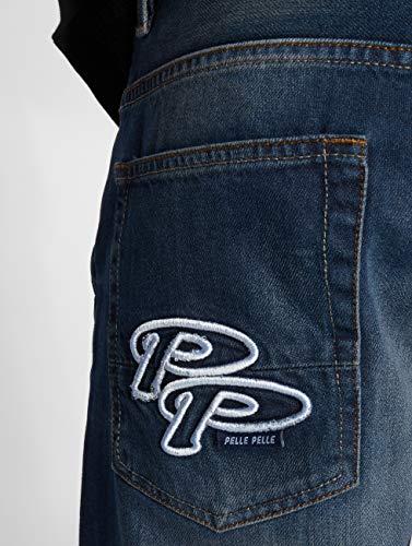 Pelle Straight Uomo Double Blu jeans Fit Jeans rZrAz