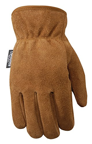 Wells Lamont Leather Work Gloves with 100-gram Thinsulate Insulation, Split Cowhide, Medium (1063M)