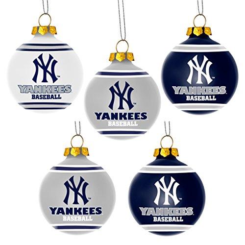 - MLB New York Yankees Shatterproof Ball Ornament (Pack of 5), Blue