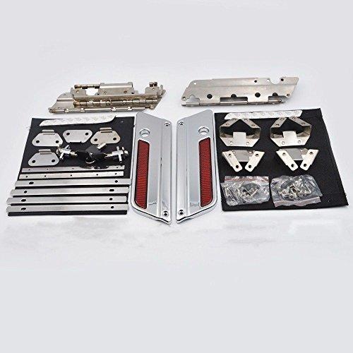 ZXMOTO Locks & keys Saddlebag Hardware Chrome Latch Set Fit For 1993-2013