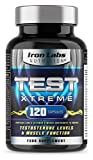 TEST XTREME® - The ULTIMATE Testosterone Support Supplement   Hardcore Sports Supplement   Supports normal Testosterone & Muscle Function   Zinc Level Booster   120 Capsules