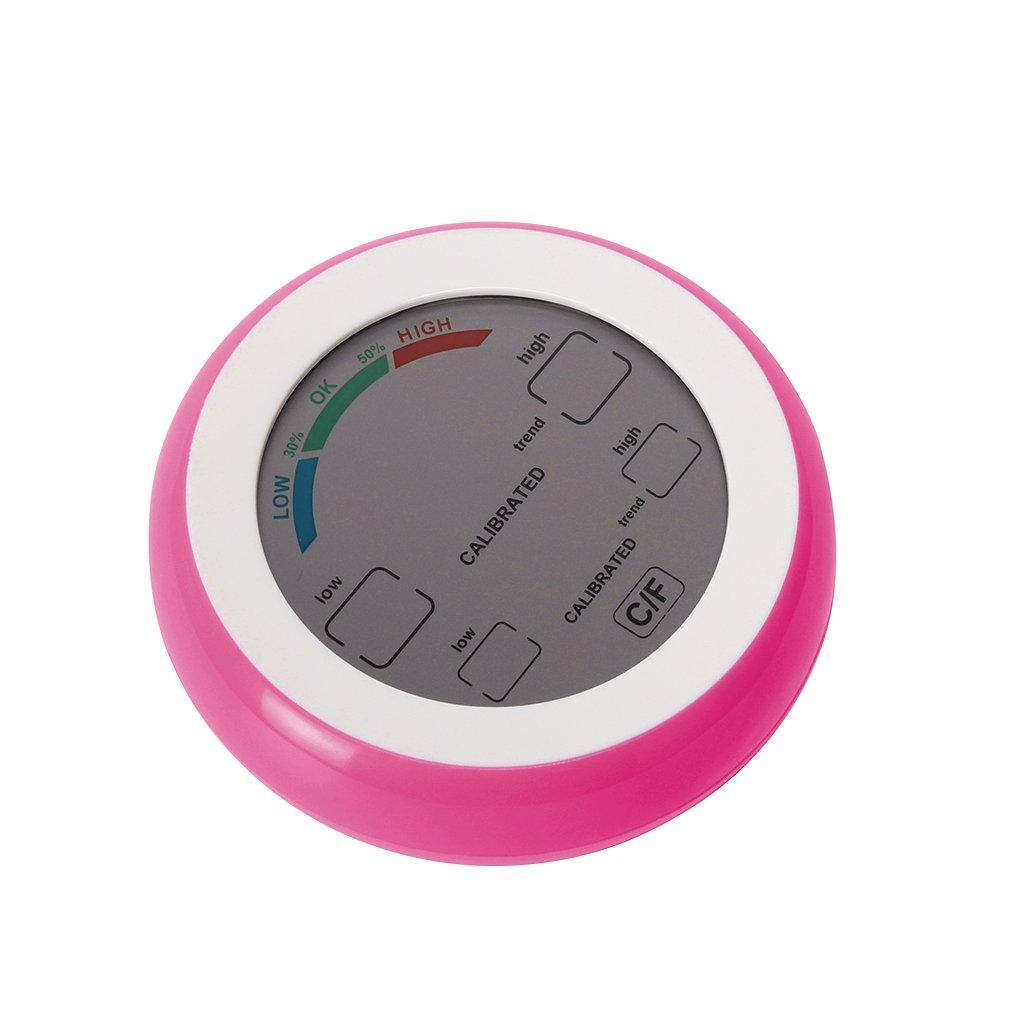 Royalr Herramientas Digital termómetro higrómetro ° C/° F Temperatura Medidor de humedad relativa Max Min Valor Pantalla de tendencias