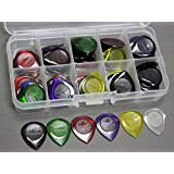 40pcs Alice Small Size Durable Clear Water-drop Jazz Acoustic Electric Guitar Picks Plectra 1.0 2.0 3.0mm + Pick Case