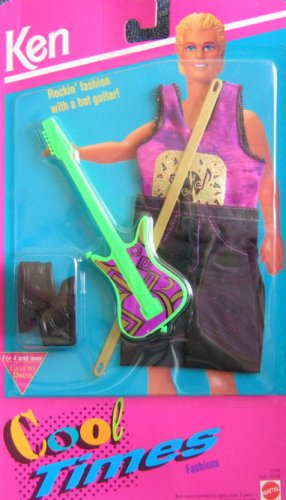 Barbie KEN Rockin' Fashion w Guitar Cool Times Fashions (1993) by Ken Cool Times Rockin' Fashions