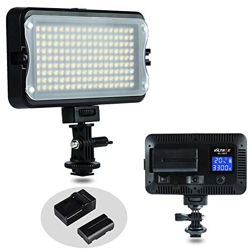 VILTROX VL-162T CRI95+ LED Video Light, Portable Camera Photo Light Panel Dimmable for DSLR Camera Camcorder with Battery, Charger, High Brightness, 3300K-5600K Bi-Color, White Filter and LCD Display by VILTROX
