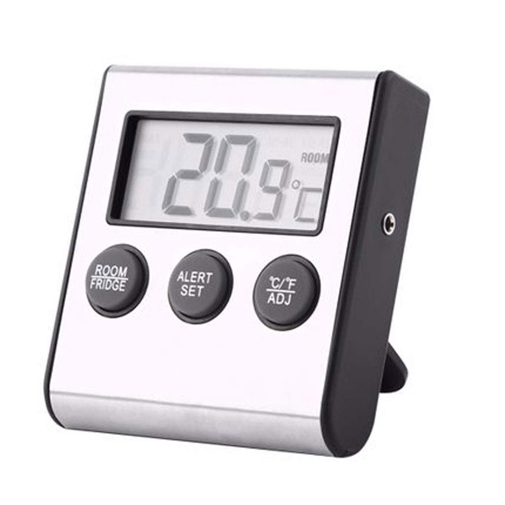 MSNDD Digital LCD Kitchen Thermometer Temperature Instrucment Diagnostic-Tool Fridge Freezer Room with Magnet and Stand