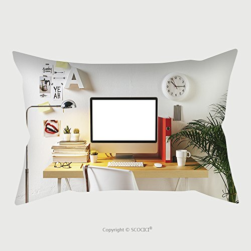 Custom Microfiber Pillowcase Protector Desk Of Creative Worker Modern Creative Workspace 216094354 Pillow Case Covers Decorative price