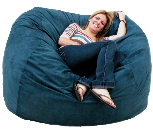 Cozy Sack 5-Feet Bean Bag Chair, Large, Navy