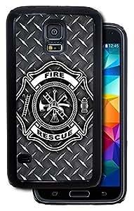 Fire Rescue Symbol Diamond Plate - Black For Case Ipod Touch 5 Cover Protective Case