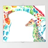 Society6 Mummy and Baby Giraffe College Dorm Decor Throw Blankets 88'' x 104'' Blanket