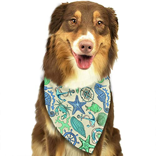 ANYWN Pet Dog Bandanas Triangle Bibs Scarfs Marine Anchorage Accessories for Puppies Cats Pets Animals Large Size ()