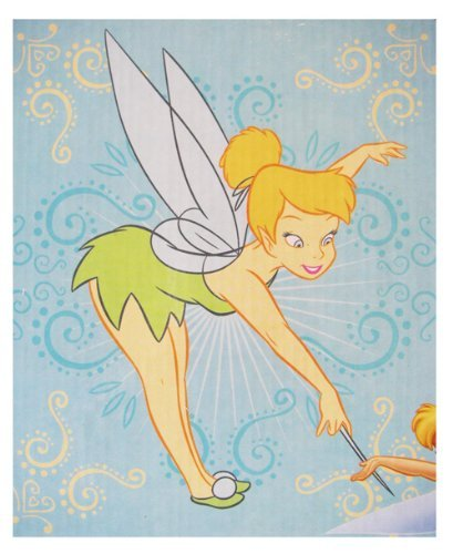 Tinkerbell Throw - Disney Tinker Bell Blanket - Tinkerbell Throw Blanket (Touch Of Tink)