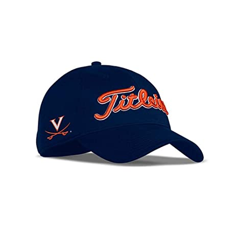 bd5f1d691dc Image Unavailable. Image not available for. Color  Titleist 2017 Collegiate  Tour Performance Adjustable Hat Cap- Virginia