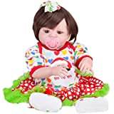Icocol Reborn Baby Doll Realistic Silicone Baby Doll for Girls Children Gift - 22 Inch Pink