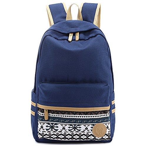 SymbolLife bolsa de la lona viento de universaidad gran calidad mujeres de mochila de los estudiantes de instituto + Bolsa de la Lápiz