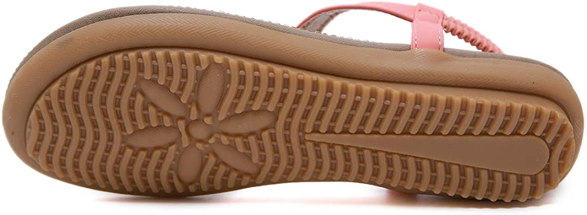 Women Summer Beach T-Strap Flip Flop Sparkling Rhinestone Walking Shoes Casual CARETOO Ladies Bohemia Flat Sandals