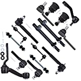 SCITOO Upper Lower Pitman Idler Arm Rear Sway Bar Links Steering Tie Rod Ends Adjusting Sleeves Ball Joint for 1998-2002 Ford Crown Victoria Mercury Grand Marquis Lincoln Town Car