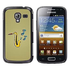 Stuss Case / Funda Carcasa protectora - Jazz Music Saxophone Instrument Art Painting - Samsung Galaxy Ace 2 I8160 Ace II X S7560M
