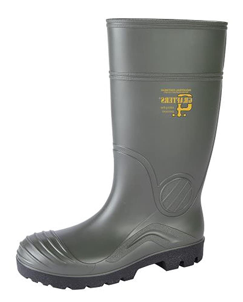 5ce03b5ff76 Grafters Mens Steel Toe Cap Safety Work Full Length Wellington Wellies  Boots Green
