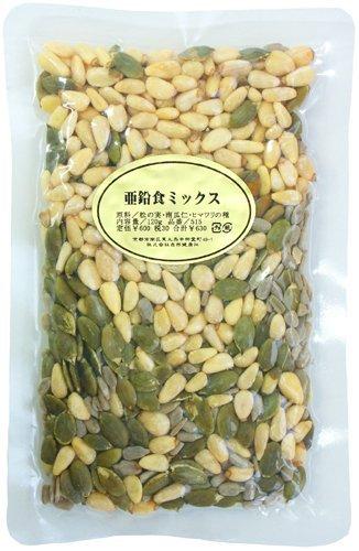 亜鉛食ミックス120g かぼちゃの種 パンプキンシード ひまわりの種 松の実 Zn