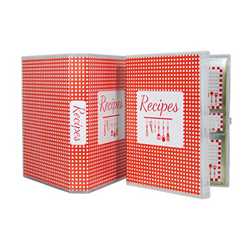Recipe Mini Binder  Red Gingham (5 x 7)