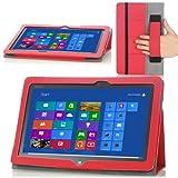 MoKo Slim Cover Case for ASUS VivoTab Smart ME400 ME400C 10.1 inch Windows 8 tablet, RED