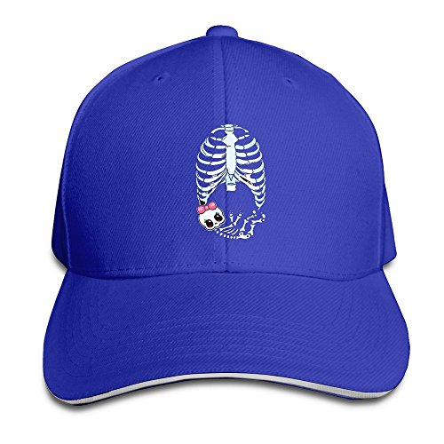 Runy Custom Baby Girl Skeleton Pregnant Adjustable Sanwich Hunting Peak Hat & Cap RoyalBlue (Good Pregnant Lady Costumes)