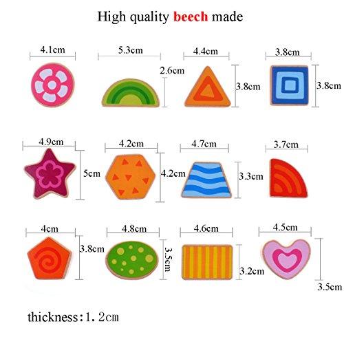 Rolimate 12 Geometric shapes Preschool Early Educational Development