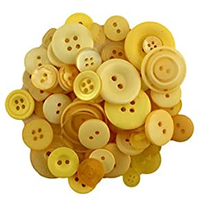 Buttons Galore CB102 Color Blend Buttons, 3-Ounce, Lemon Tart, 3 Shades of Yellow