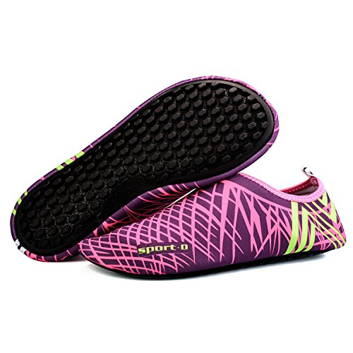 TZTONE Unisex Schwimmen Schuhe Barfuß Quick-Dry Wasserschuhe TZT-SS999 Rosa