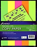 Esselte Ampad 19619 Copy Paper Glow Colors 24 lb. 8 1/2'' x 11'' 5 Assorted Colors 100 Sheets