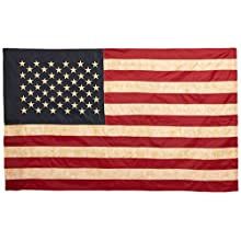 Vintage Look, Tea Stained American Flag (60x36inches)