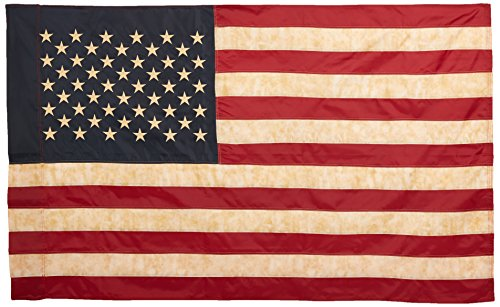 Vintage Look, Tea Stained American Flag