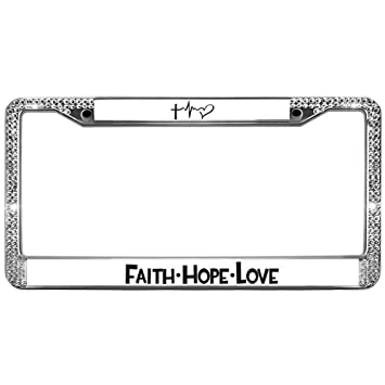 Amazoncom Gnd License Plate Frame Faith Hope Love License Plate