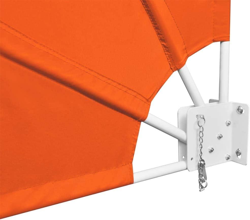 vidaXL Tenda Laterale Terrazza Pieghevole Crema 140x140 cm Parasole Tendalino