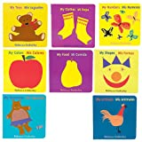 Spanish/English Board Books For Children Set of 8 Based on Basic Concepts