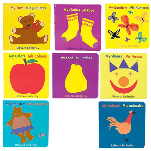 Spanish/English Board Books For Children Set of 8 Based on Basic Concepts by Constructive Playthings