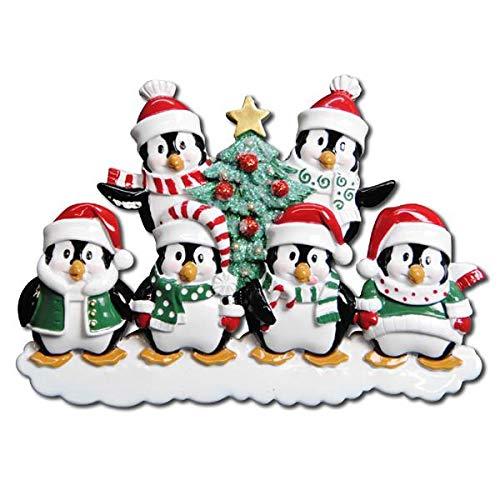 Polar X Winter Penguin Family 6 Personalized Christmas Ornament (Family Series) ()