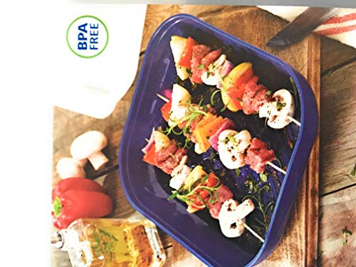 Party Travel Serving Tray Food Storage container 2 piece with Lid 10 x 12 x 3