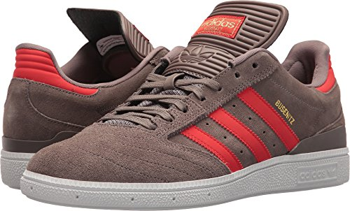 adidas Originals Herren Busenitz Fashion Sneaker Tech Earth / Gold Metallic Wildleder