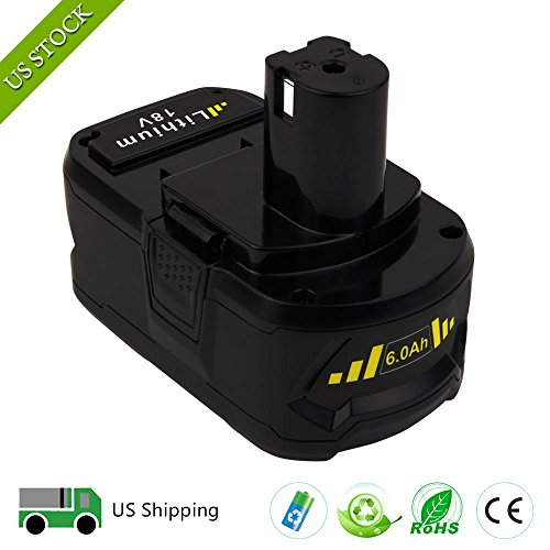 18V 6.0ah Lithium Ion Battery for Ryobi ONE+ P104 P105 P102 P103 P107 P108 P507 BPL-1815 BPL-1820G BPL18151 BPL1820 Cordless Power Tools (2-Pack) by VANON (Image #6)